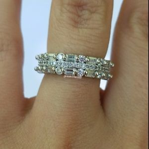 Silver Triple Band Ring